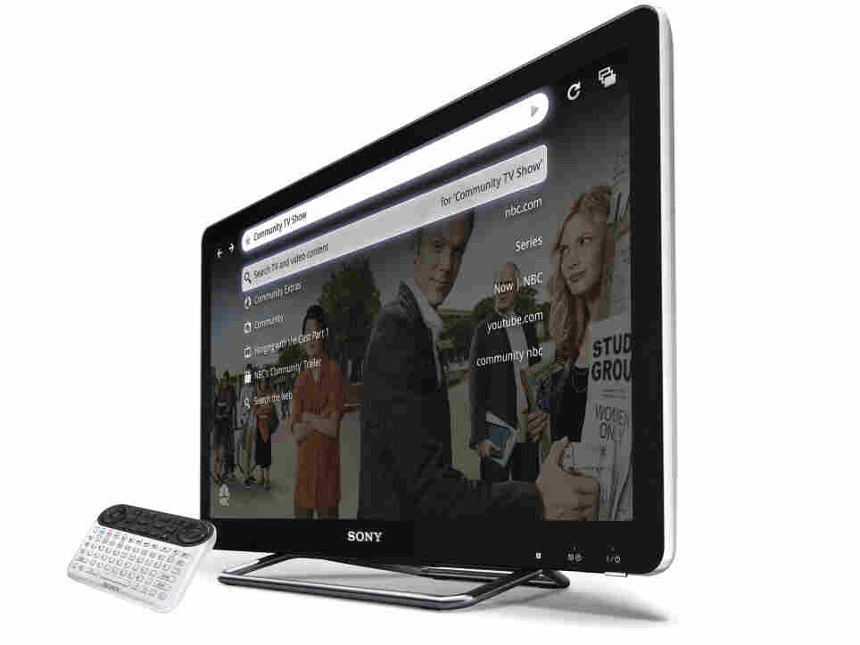 the Sony Internet TV with the QWERTY remote, powered by Google TV.