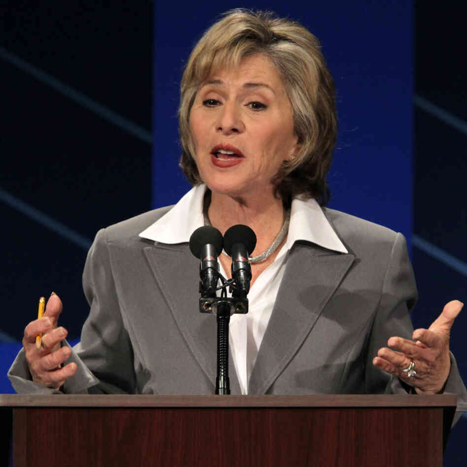 Sen. Barbara Boxer, D-CA, at a Sept. 1, 2010, debate.p