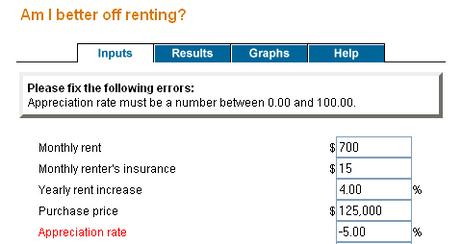 Rent Buy Calculator