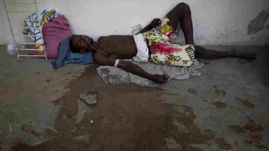 man suffering from cholera