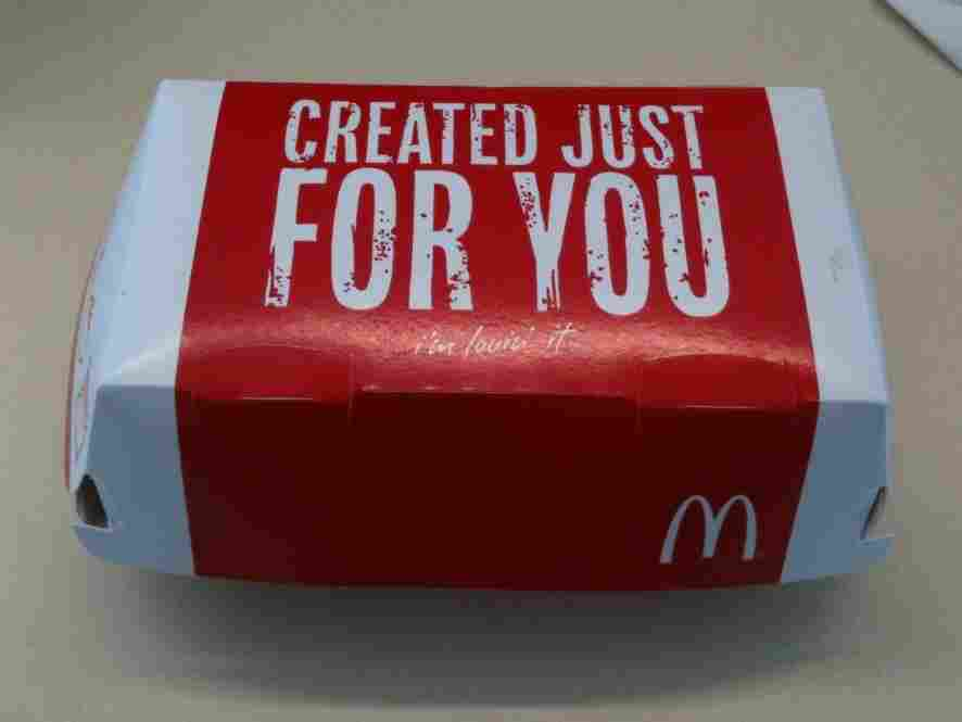 Photo of McRib box.