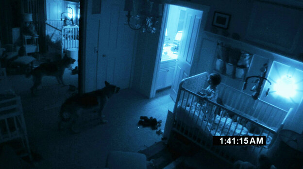 A dark room in Paranormal Activity 2