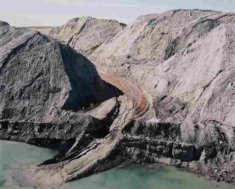 Mine spoil piles and intersected water table, 1984