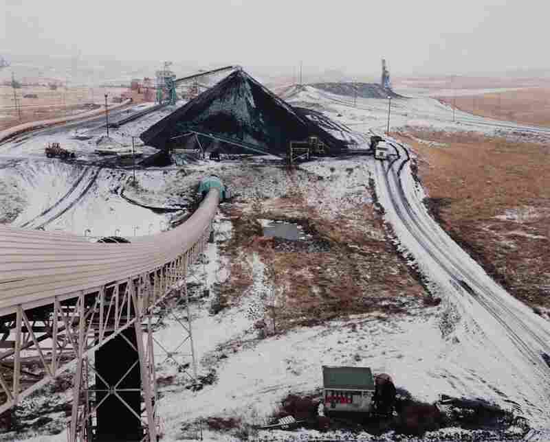 Coal storage area and railroad tipple, 1984