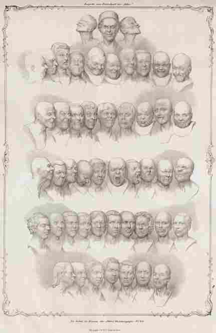 "Messerschmidt's ""Character Heads,"" 1839, by Matthias Rudolph Toma"
