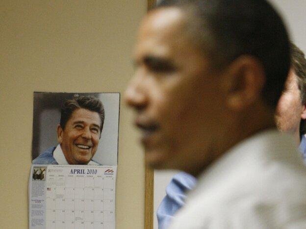 Barack Obama and Ronald Reagan calendar