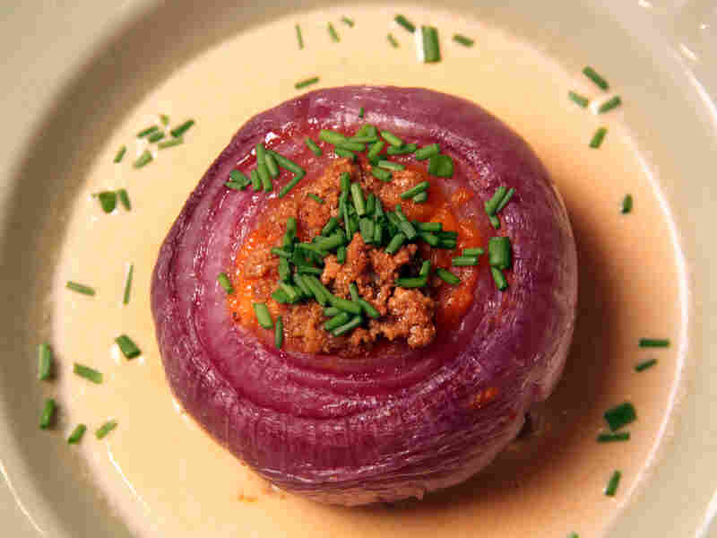 Baked Onions With Buttercup Squash Filling