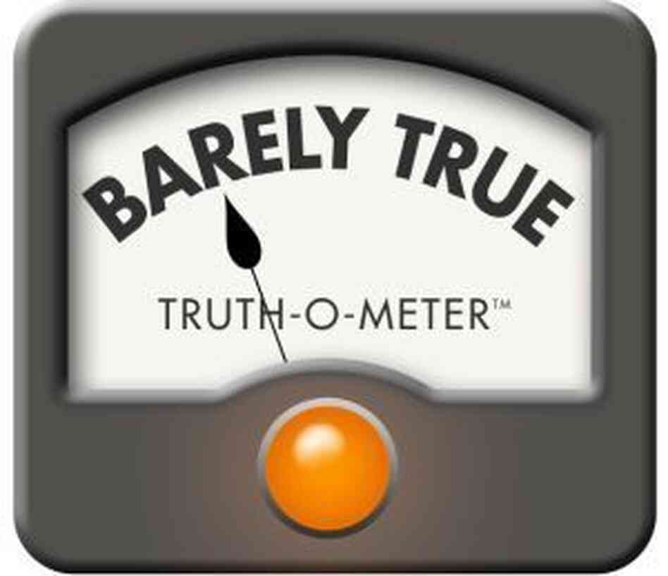 "PolitiFact's ""BarelyTrue"" rating."