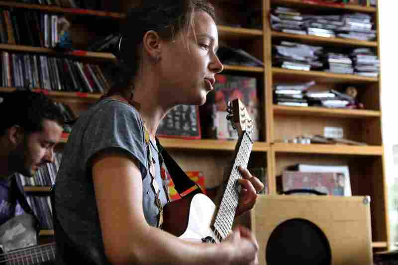 Arone Dyer and Aron Sanchez of Buke and Gass play a Tiny Desk Concert October 7th.