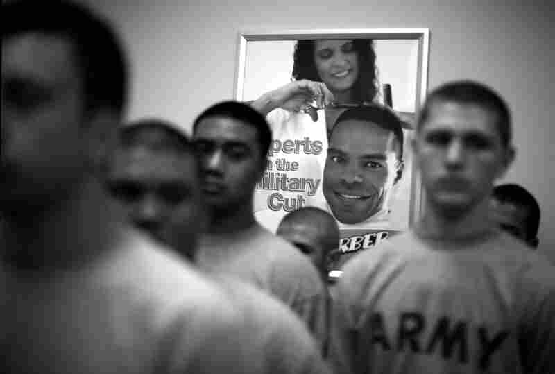 All new Soldiers arrive at the reception station at Fort Jackson where they start their military careers with the traditional hair cut during the first 4 days of in-processing.