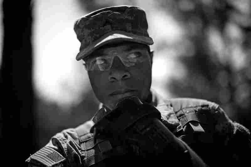 Pvt. Ryan Cooper at the U.S. Army's training facility in Fort Jackson in South Carolina.