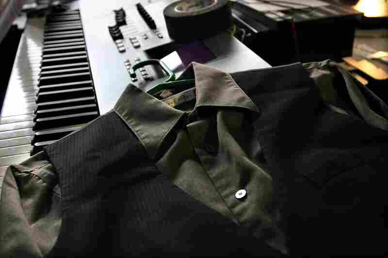 A shirt and vest are laid out on the piano before Nellie Mckay and her band play a Tiny Desk Concert on October 15th.