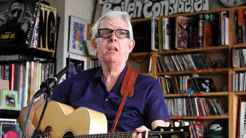 Nick Lowe performs a Tiny Desk Concert at the NPR Music offices.