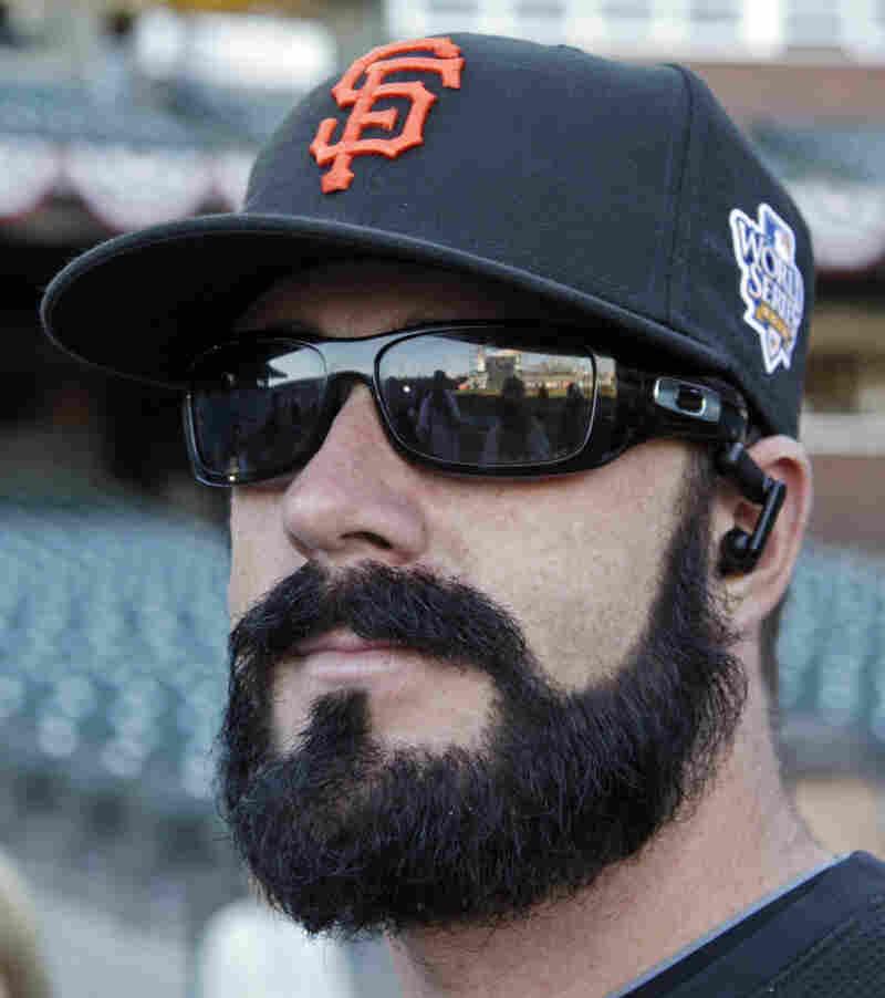 "Giants pitcher Brian Wilson's ink-black beard has spawned a ""fear the beard"" mania in San Francisco."