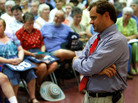 Rep. Tom Perriello, D-VA, at a health care town hall meeting in Fork Union, VA, Aug. 17, 2009.