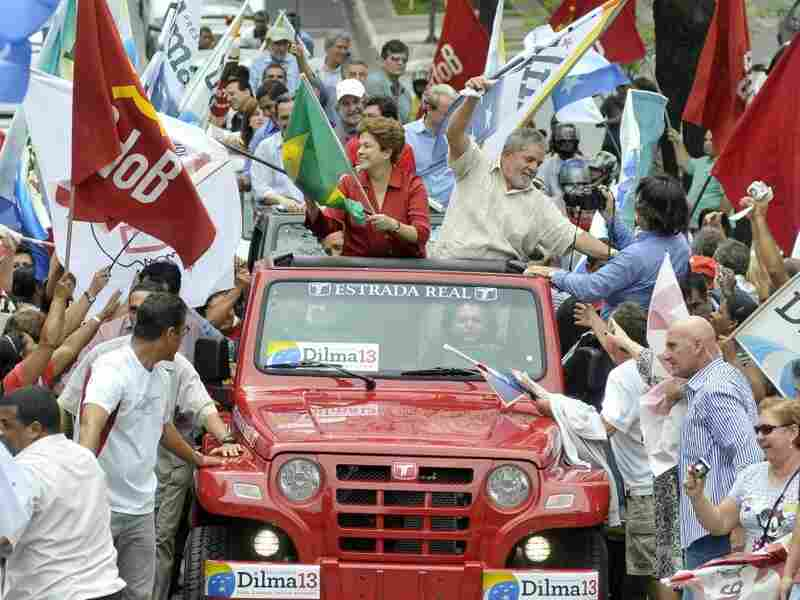 Presidential candidate Dilma Rousseff in Belo Horizonte, Brazil.