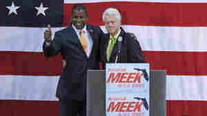 Rep. Kendrick Meek, D-FL, and former President Clinton in Orlando on Oct. 20.