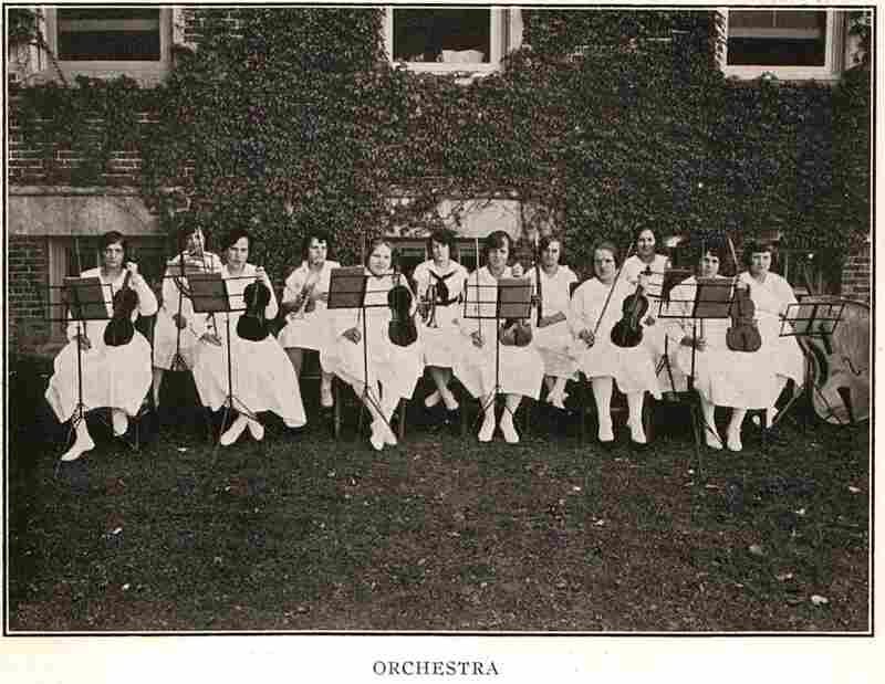 The girl's orchestra poses for a photograph in 1922. Patients could also participate in Pennhurst's choirs and marching bands.