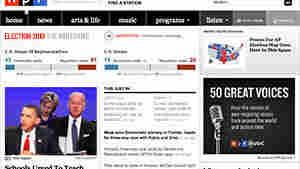 Design of NPR.org's 2010 elections homefront.