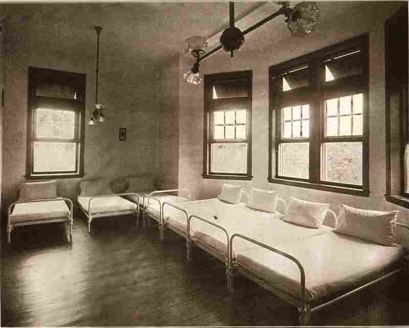 Beds line the walls of sleeping quarters on campus in this 1912 photograph. Pennhurst was closed in 1987 after years of chronic overcrowding.