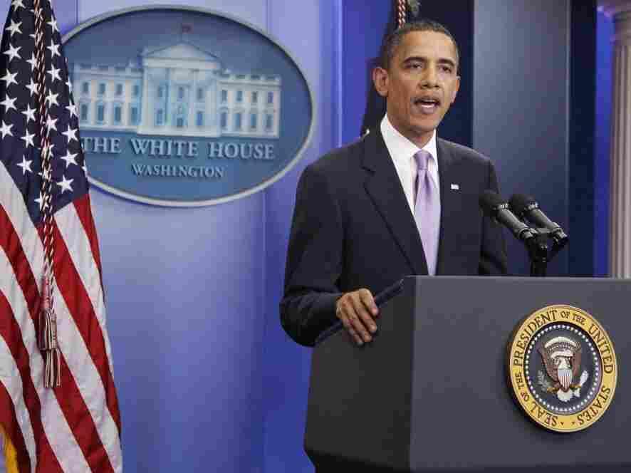 President Obama in briefing room