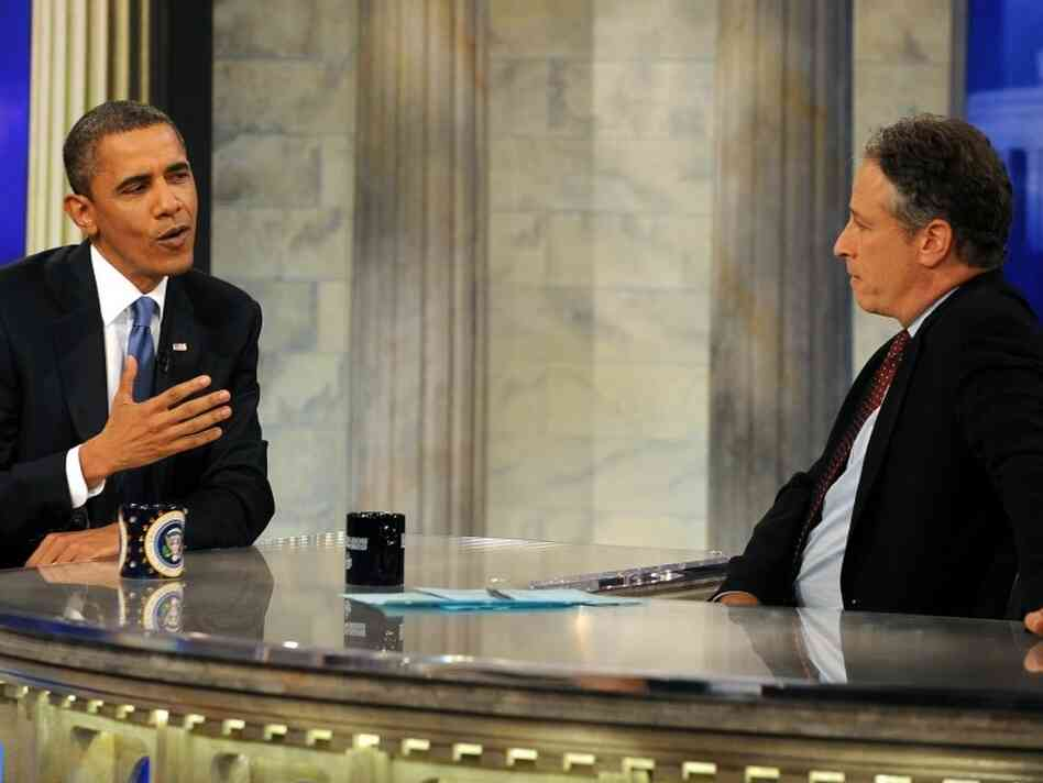 Jon Stewart broadcast his show from Washington this week. President Obama was among his guests.