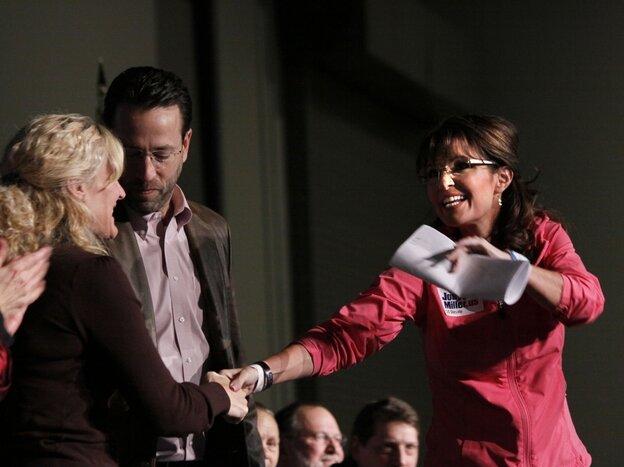 Joe Miller and Sarah Palin