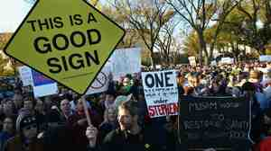 Signs from the Rally to Restore Sanity and/or Fear