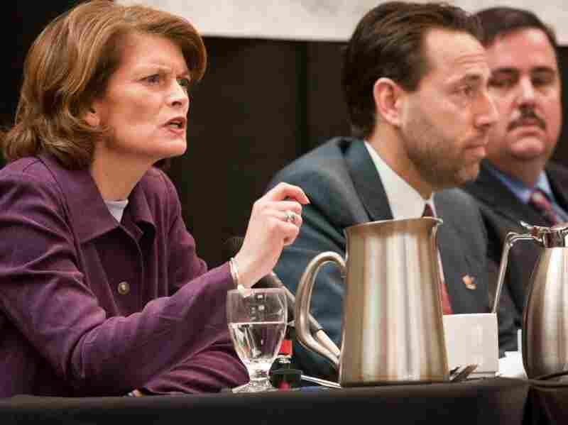 Alaskan candidates Sen. Lisa Murkowski (R), Joe Miller and Scott McAdams