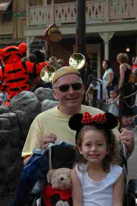 """Photo taken in 2005 at Disneyland during its 50th anniversary."""