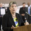Homeland Security Secretary Janet Napolitano visits JFK Airport