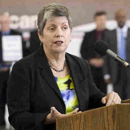 Homeland Security Secretary Janet Napolitano visits JFK Airport