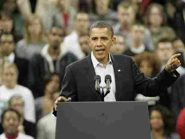 President Obama at a rally in Cleveland, Oct. 31, 2010.