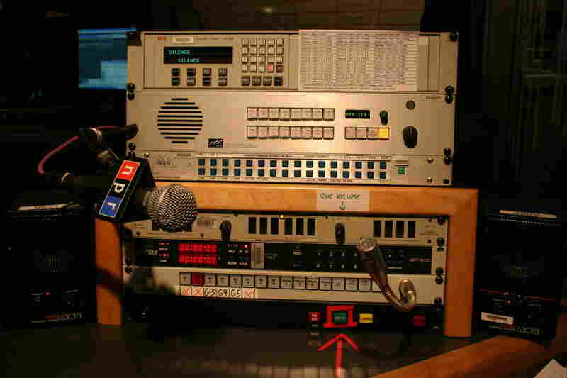 The director uses these controls to drive the show. Look closely for the many buttons and their labels.