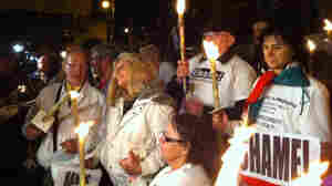 Alleged victims of sexual abuse by Catholic clergy held a candlelight vigil of solidarity.