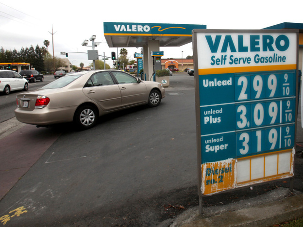 Texas-based Valero Energy -- which owns gas stations across the country, like this one in Sacramento,Calif. -- has contributed about half of the roughly $10 million behind California's Proposition 23 campaign.