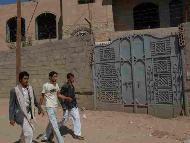 Yemeni youths in the capital, Sanaa
