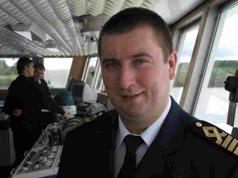 The captain of the Mikhail Bulgakov, Pavel Kositsky, says he's proud of his ship and hopes tourism along the Volga will increase.