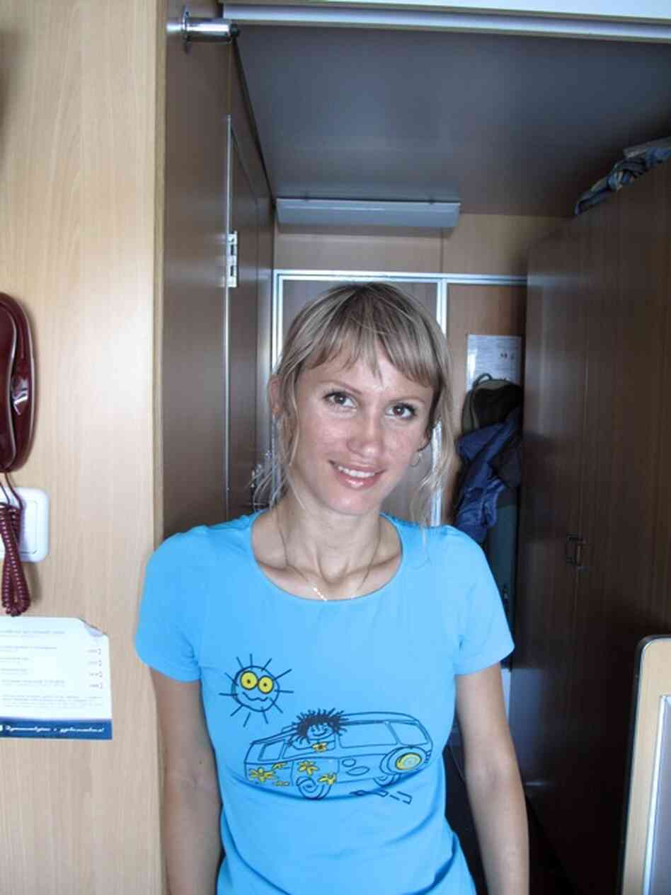 Ksenya Svetlova and her new husband decided to honeymoon down the Volga even though it's more expensive than a trip to Spain.