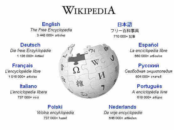 The homepage at Wikipedia.org