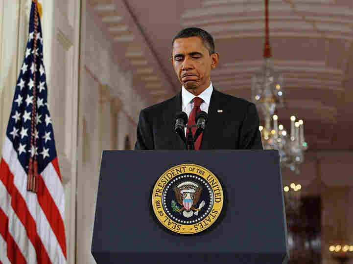 President Obama during a speech the day after the midterm elections.
