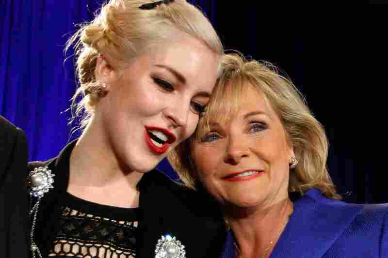 Oklahoma governor-elect Mary Fallin (right), hugs her daughter, Christina, at a victory party in Oklahoma City. Fallin will become Oklahoma's first female governor.