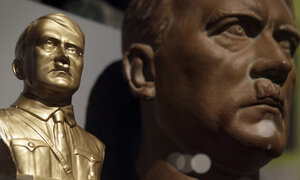Two busts of Adolf Hitler