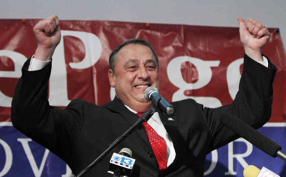 In Maine, Republican Paul LePage won a close race against independent candidate Eliot Cutler.