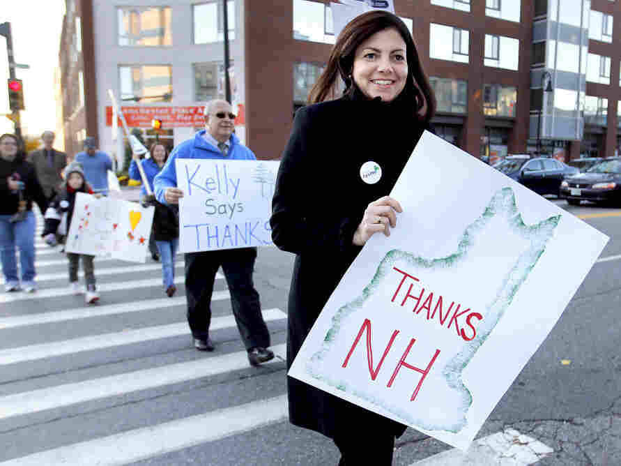 Republican Sen.-elect Kelly Ayotte hit the streets of Manchester, N.H., Wednesday to thank voters.