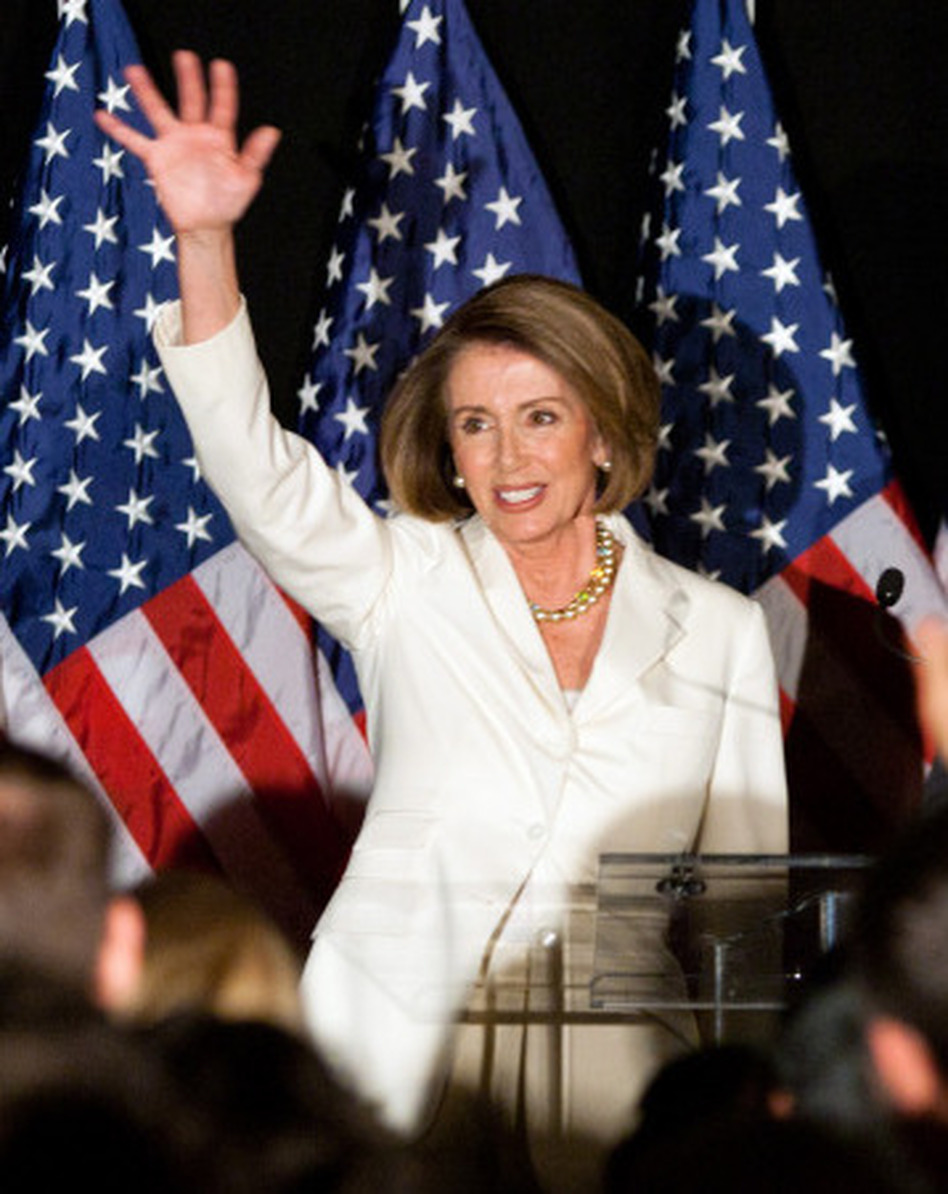 If elected speaker of the House, Boehner will succeed California Democract Nancy Pelosi, pictured above at an election-night rally in Washington, D.C. She was the nation's first female House speaker.