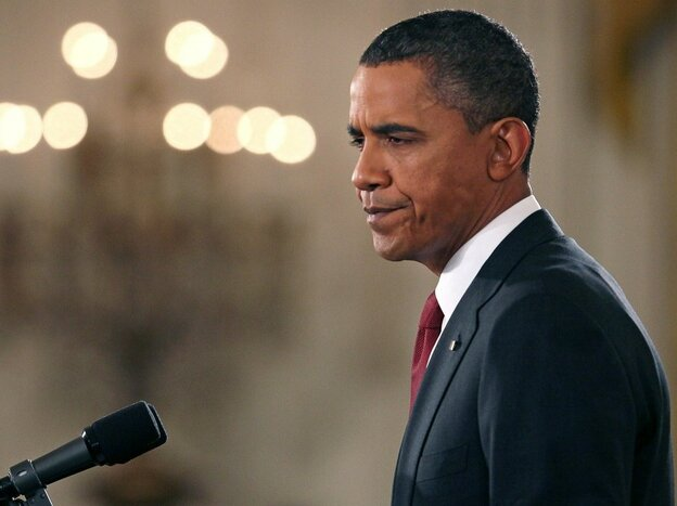 President Obama during Wednesday's news conference.