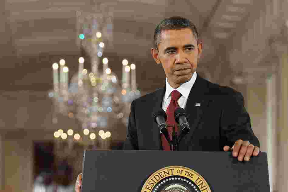 President Barack Obama holds a news conference in the White House to address midterm election results.