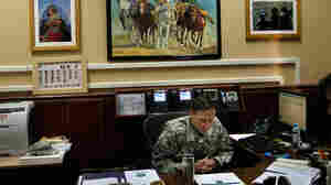 General Petraeus Leads ISAF At His Office In Kabul