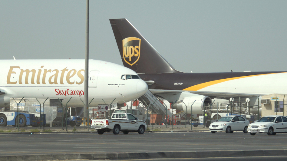 Air cargo planes in Dubai. Both package bombs transited through the transportation hub. (AFP)
